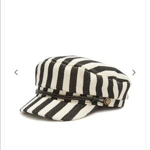 Forever 21 striped cabbie hat, brand new!